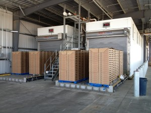 2 MACS automated forced-air coolers at Agro-Jal in Santa Maria
