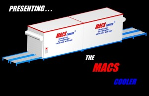 image with text stating 'Presenting... The MACS Cooler'
